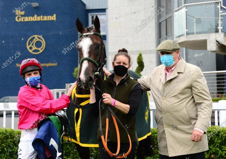 NAAS. LAYFAYETTE and Chris Hayes win for owner Patricia Hunt and trainer Noel Meade with groom Emma Connolly.