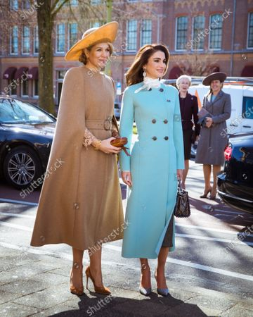 Her Majesty Queen Rania and Queen Maxima during an official visit to the NetherlandsMarch 2018