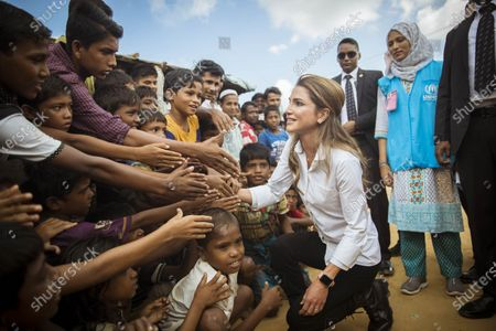 Her Majesty Queen Rania visiting Rohingya refugees at Cox's Bazar refugee campOctober 2017