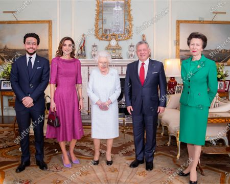 His Majesty King Abdullah II and Her Majesty Queen Rania with Her Majesty Queen Elizabeth II and HRH Crown Prince Al Hussein and Princess Anne