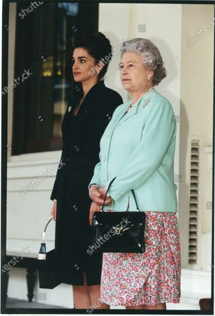 Her Majesty Queen Rania with Her Majesty Queen Elizabeth II 