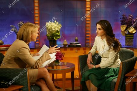 Her Majesty Queen Rania being interviewed by Katie Couric on the Today Show