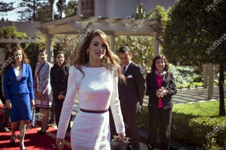 Her Majesty Queen Rania al Abdullah and Princess lalla SalmaMarrakesh MoroccoJanuary 2008