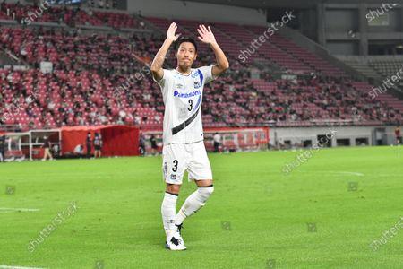 Gamba Osaka's Gen Shoji during the 2020 J1 League match between Kashima Antlers 1-1 Gamba Osaka at Kashima Stadium, Kashima, Ibaraki, Japan.