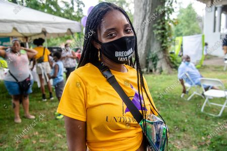 Tamika D. Mallory poses for a photo at Bre-B-Q Community Barbecue and Concert Honoring All The Lives Lost to Police Violence at Shawnee Park presented by Until Freedom on day two of BreonnaCon, in Louisville, KY