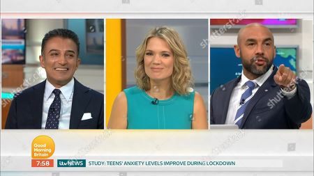 Adil Ray, Charlotte Hawkins and Alex Beresford
