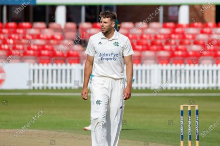 Tom Barber during the Bob Willis Trophy match between Leicestershire County Cricket Club and Nottinghamshire County Cricket Club at the Fischer County Ground, Grace Road, Leicester
