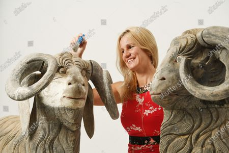Stock Image of Zoe Smith of Wooley and Wallis with sculptures included in the collection.   The collection of one of Britain's most iconic female sculptors is being sold for £100,000 after spending 25 years of lying undiscovered in a barn.  The paintings, ceramics and other artworks that inspired the late Dame Elisabeth Frink were packed away in the mid-1990s and seemingly forgotten about.  They were only revisited in the last couple of years following the sudden death of her son and heir, Lin Jammet, in 2017.  Over 100 lots will now be sold at auction at Woolley and Wallis in Salisbury, Wilts, after they were displayed alongside Frink's own works at her house, garden and studio in Dorset.