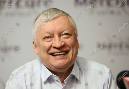 Editorial image of Russian chess grandmaster Anatoly Karpov visits Warsaw, Poland - 24 Aug 2020