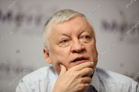 Editorial picture of Russian chess grandmaster Anatoly Karpov visits Warsaw, Poland - 24 Aug 2020