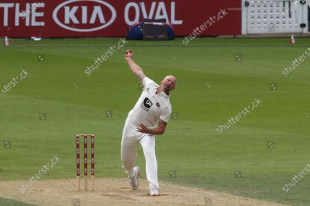 Darren Stevens bowling for Kent during Surrey CCC vs Kent CCC, Bob Willis Trophy Cricket at the Kia Oval on 24th August 2020