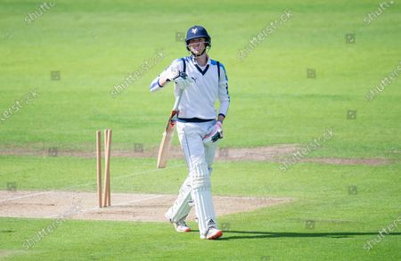 Emerald Headingley Stadium, Leeds, England -Yorkshire's George Hill disappointed after being bowled by Lancashire's Danny Lamb.