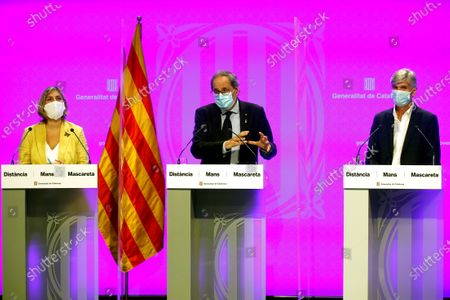Editorial image of Catalan authorities announces new measures to fight against coronavirus, Barcelona, Spain - 24 Aug 2020