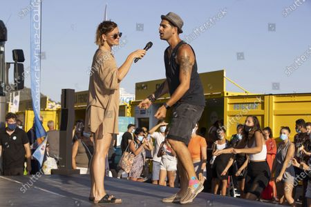 "Village ""Big Tour"", dance demonstration by Fauve Hautot (Dancer, choreographer, actress, Dance with the Stars) and Christophe Licata, (dancer, choreographer, Dance with the Stars)."