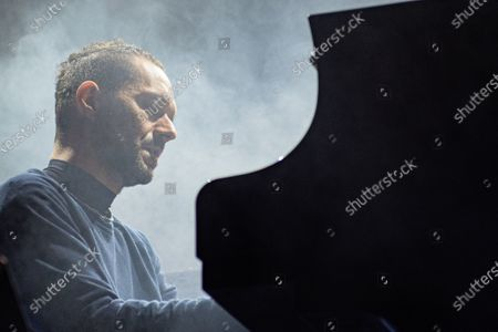 Stock Image of Italian singer, Boosta during Verucchio Music Festival