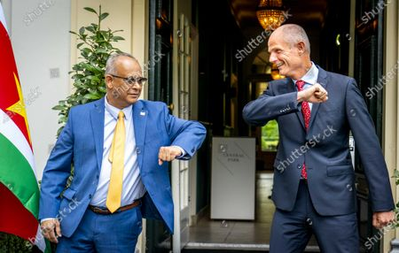Dutch Forein Minister Stef Blok (R) and his Surinamese counterpart Albert Ramdin (L) in Voorburg, The Netherlands, 24 August 2020. Ramdin is the first Surinamese Foreign Minister in ten years to visit the Netherlands.