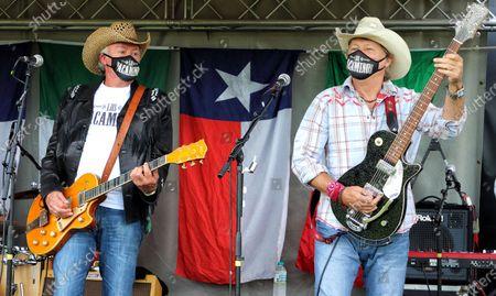 Editorial photo of Los Pacaminos in concert, Hatfield Park, Hatfield, UK - 23 Aug 2020