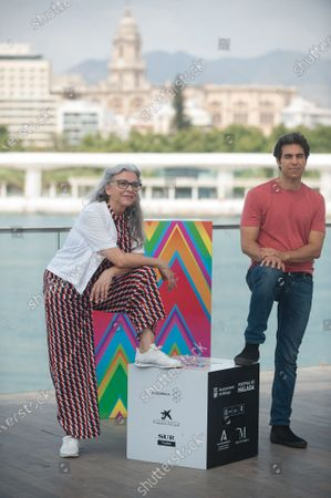 Spanish actress Kiti Manver and film director Bernabe Rico attend the El Inconveniente photocall at Muelle Uno in Malaga.