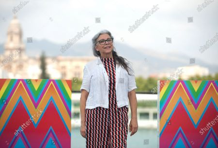 Spanish actress Kiti Manver attends the El Inconveniente photocall at Muelle Uno in Malaga.