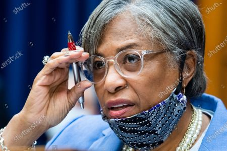 Stock Picture of Rep. Brenda Lawrence, D-Mich., questions Postmaster General Louis DeJoy during a House Oversight and Reform Committee hearing on the Postal Service on Capitol Hill, in Washington