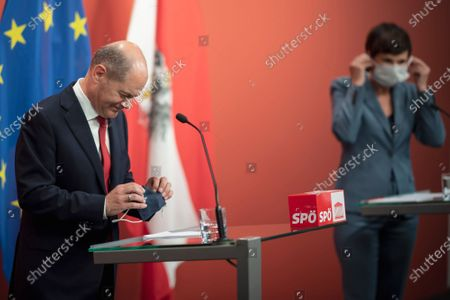 Editorial photo of German Minister of Finance and SPD candidate for chancellor Olaf Scholz in Vienna, Austria - 24 Aug 2020