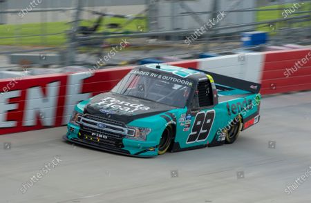 Stock Picture of Ben Rhodes (99) during a NASCAR Truck Series race at Dover International Speedway, in Dover, Del