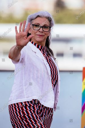 Kiti Manver poses during the presentation of the film 'El Inconveniente' (lit. The Inconvenient) at the 23rd edition of Malaga Film Festival in Malaga, Spain, 24 August 2020.
