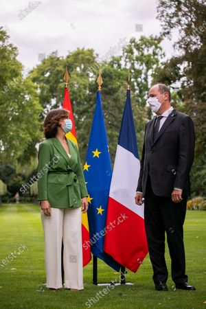 French Prime Minister, Jean Castex and First Vice-President of the Government of the Kingdom of Spain, Carmen Calvo Poyato