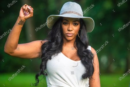 Porsha Williams attends the Bre-B-Q during the second day of BreonnaCon at Shawnee Park on August 23, 2020 in Louisville, Kentucky after the death of Breonna Taylor .