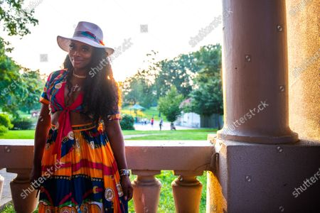 Yandy Smith- Harris attends the Bre-B-Q during the second day of BreonnaCon at Shawnee Park on August 23, 2020 in Louisville, Kentucky after the death of Breonna Taylor .