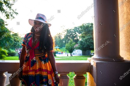Stock Photo of Yandy Smith- Harris attends the Bre-B-Q during the second day of BreonnaCon at Shawnee Park on August 23, 2020 in Louisville, Kentucky after the death of Breonna Taylor .