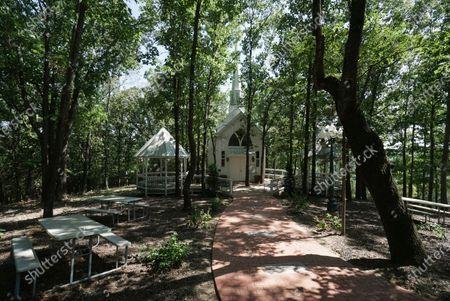 Morningside Church's property, home to televangelist Jim Bakker, is seen, in Blue Eye, Mo