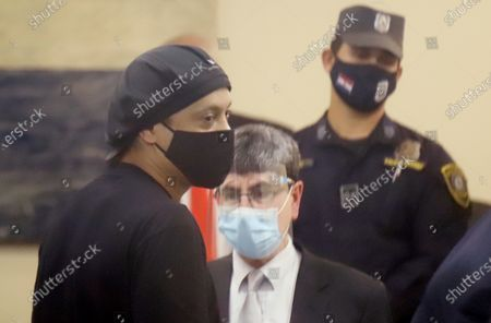 Editorial photo of Former Brazilian soccer player Ronaldinho at hearing in Asuncion, Paraguay - 24 Aug 2020
