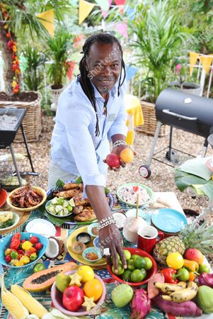 Stock Photo of Chef Levi Roots. Samsung and Notting Hill Carnival 2020: Access All Areas have today released an official trailer giving a first look at this weekend's virtual Carnival.