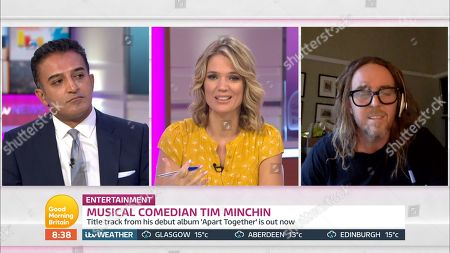 Stock Picture of Adil Ray, Charlotte Hawkins and Tim Minchin