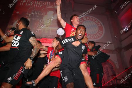 David Alaba and Joshua Kimmich - FC Bayern Munich victory celebration after the Champions League final vs Paris St. Germain (PSG)