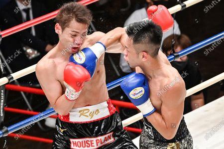 Editorial image of Boxing: 8R featherweight bout at Korakuen Hall in Tokyo, Tokyo, Japan - 24 Aug 2020