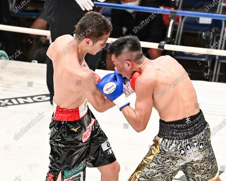Editorial photo of Boxing: 8R featherweight bout at Korakuen Hall in Tokyo, Tokyo, Japan - 24 Aug 2020