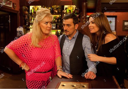 Friday 10 January 2014 - 1st Ep Peter Barlow, as played by Chris Gascoyne, is clearly rattled when the factory girls discuss Tina's abrupt departure. Desperate for news of Tina, Peter corners Liz McDonald, as played by Beverley Callard, in the Rovers, but when Carla Barlow, as played by Alison King, spots their conversation getting heated, will she question what is going on?