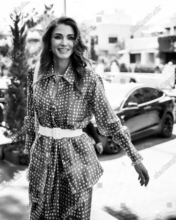 Queen Rania before a meeting with members of the Jordan Entrpreneurship and Innovation Association - 1st September 2019