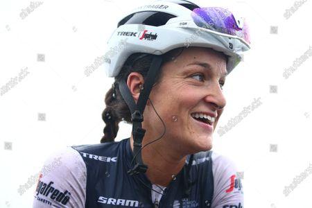 Great Britain and Trek Segafredo rider Lizzie Deignan wins the GP de Plouay today