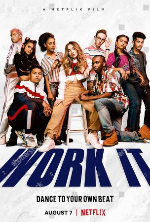Stock Image of Work It (2020) Poster Art. Keiynan Lonsdale as Julliard Pembroke, Bianca Asilo as Raven, Neil Robles as Chris Royo, Liza Koshy as Jasmine Hale, Sabrina Carpenter as Quinn Ackerman, Tyler Hutchings as Robby G., Nathaniel Scarlettte as DJ Tapes and Indiana Mehta as Priya and Jordan Fisher as Jake Taylor