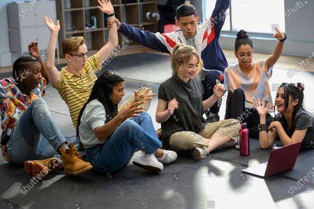 Nathaniel Scarlette as DJ Tapes, Tyler Hutchings as Robby G., Indiana Mehta as Priya, Sabrina Carpenter as Quinn Ackerman, Neil Robles as Chris Royo, Liza Koshy as Jasmine Hale, Bianca Asilo as Raven