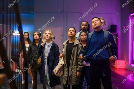 Bianca Asilo as Raven, Sabrina Carpenter as Quinn Ackerman, Liza Koshy as Jasmine Hale, Indiana Mehta as Priya, Nathaniel Scarlette as DJ Tapes and Neil Robles as Chris Royo