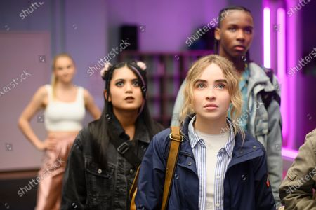 Bianca Asilo as Raven, Sabrina Carpenter as Quinn Ackerman, Nathaniel Scarlettte as DJ Tapes