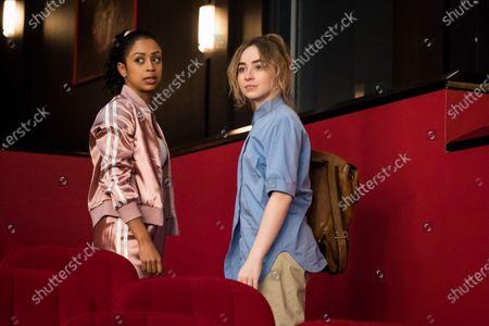 Liza Koshy as Jasmine Hale and Sabrina Carpenter as Quinn Ackerman