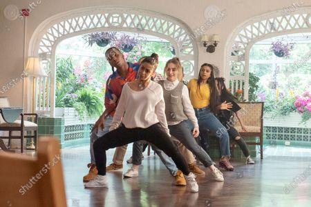 Nathaniel Scarlette as DJ Tapes, Liza Koshy as Jasmine Hale, Sabrina Carpenter as Quinn Ackerman, Indiana Mehta as Priya and Bianca Asilo as Raven