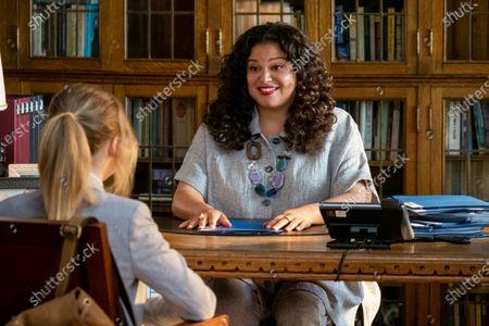 Stock Photo of Sabrina Carpenter as Quinn Ackerman and Michelle Buteau as Veronica Ramirez