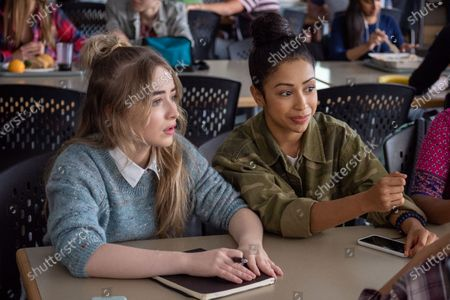 Stock Photo of Sabrina Carpenter as Quinn Ackerman and Liza Koshy as Jasmine Hale and