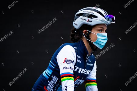 Lizzie Deignan of Trek Segafredo before the race.